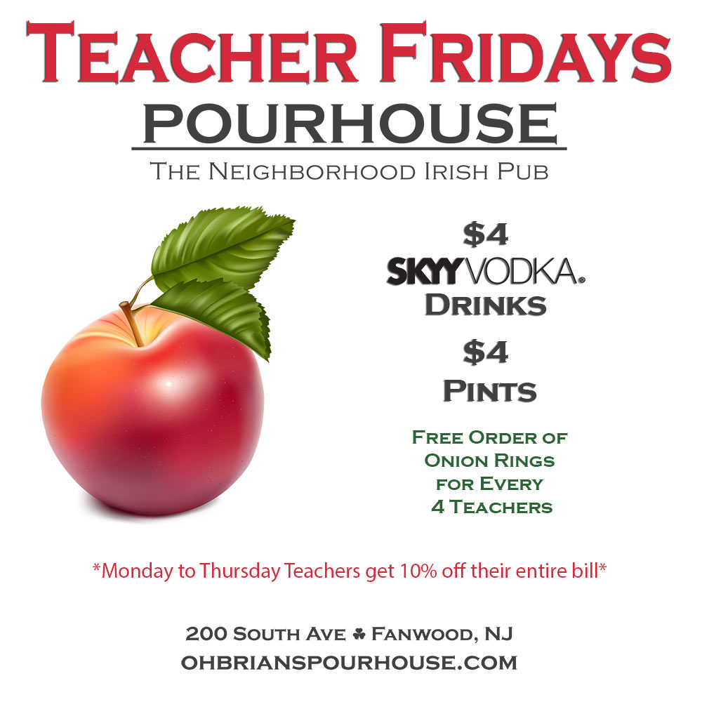 Teacher Fridays - Teachers enjoy a discount every day